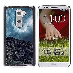 LECELL -- Funda protectora / Cubierta / Piel For LG G2 D800 D802 D802TA D803 VS980 LS980 -- Abstract Planet Landscape --