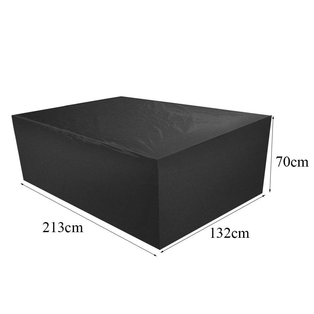 mifengdaer Furniture Cover 210D Oxford Fabric PU Coating Garden Black Outdoor Cover Waterproof Dustproof Patio Furniture Covers 83.9\