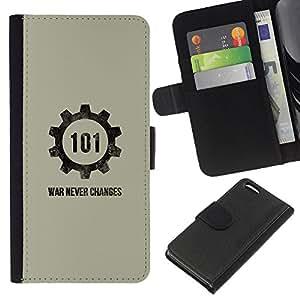Stuss Case / Funda Carcasa PU de Cuero - Guerra Nunca Cambios - Apple Iphone 5C