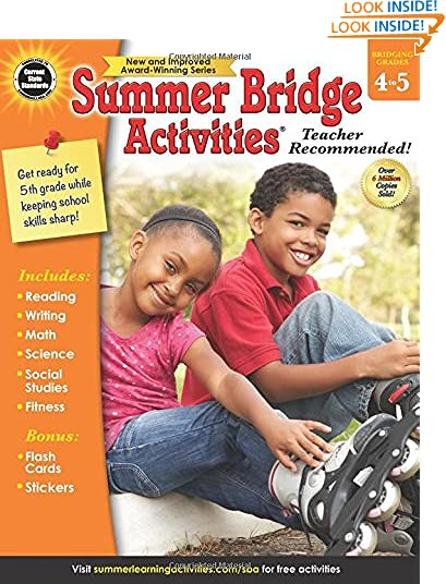 Summer Bridge Activities - Grades 4 - 5, Workbook for Summer Learning Loss, Math, Reading, Writing and More with...