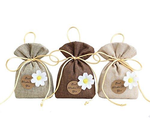 Potpourri Fai Da Te.Tooget Elegant Sachet Bags Premium Cotton And Linen Bags Reusable
