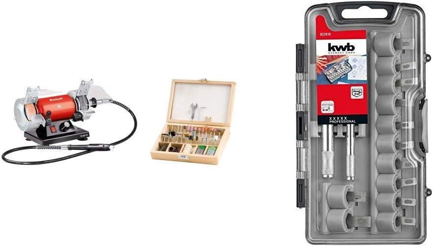 Einhell TH-XG 75 Kit esmeriladora Mini Taladro + KWB 49205010 Set de 15 cuchillos