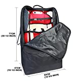 Tykegear-Three-Way-Carry-Padded-Protection-Car-Seat-Travel-Bag-with-Wheels-Great-Bag-for-Baby-Car-Seat-Black