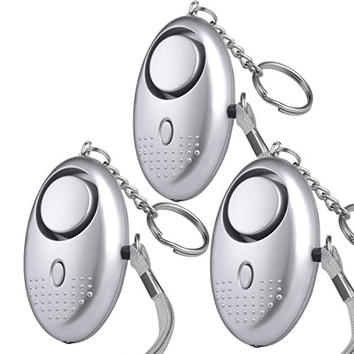 3 PACK FansArriche Personal Alarms Security Devices 130 DB with LED light,Emergency Safety Sound Alarm Keychain for Women/Kids/Girls/Elderly Self Defense Device Christmas gifts