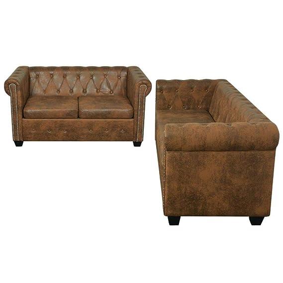 tiauant Mobiliario Sofás Conjunto de Sofa Chesterfield 2+3 ...