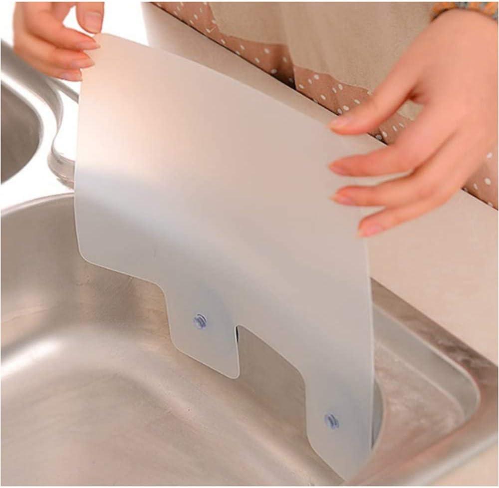 Sink Water Splash Guard Bathroom Splashproof Baffle Board for Kitchen