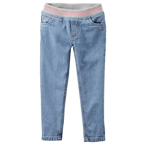 Carters Baby Girls Pull-On Ribbed Waistband Jeans Bonita Blue 6M
