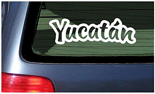 Price comparison product image Yucatan Mexican State - White Window Sticker Decal Vinyl Pride Mexico Yucatán Mérida