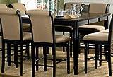 Coaster Cabrillo Counter Height Two Tone Dining Table Black/amaretto Finish Finish