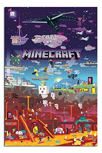 minecraft world beyond poster maxi