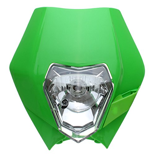CoCocina Headlight Fairing Motorcycle Dirt Bike Motocross Supermoto for KTM SX EXC XCF SXF SMR - Green (Jacket Supermoto)