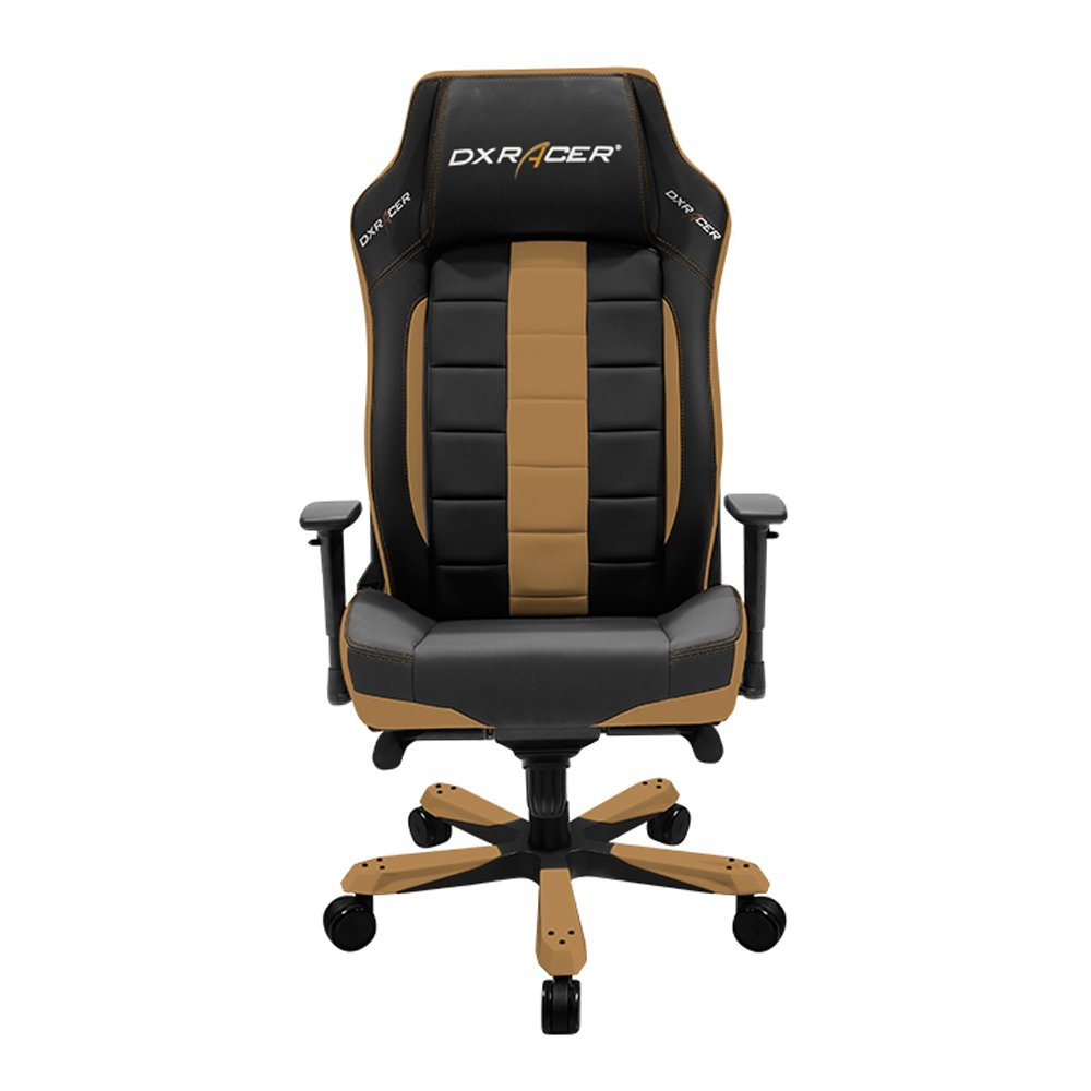 DXRacer Classic Series DOH/CE120/NC Big and Tall Chair Racing Bucket Seat Office Chairs Comfortable Chair Ergonomic Computer Chair DX Racer Desk chair (Black/Coffee)
