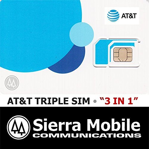 AT&T TRIPLE CUT GO PHONE 4G LTE SIM CARD