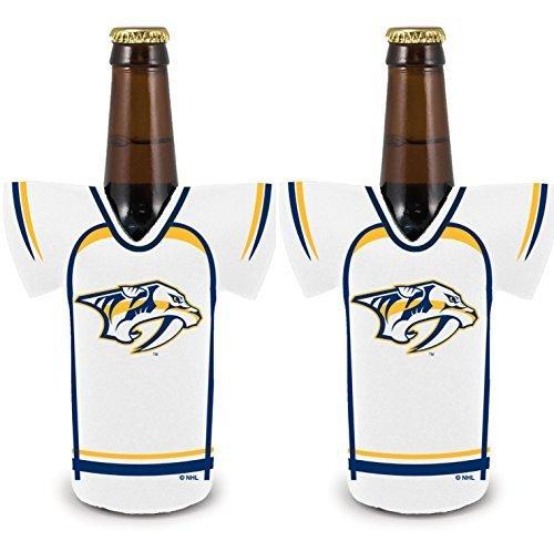 fan products of NHL Hockey 2014 Team Color Logo Bottle Jersey Holder Koozie Cooler 2-Pack (Nashville Predators)