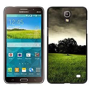 Caucho caso de Shell duro de la cubierta de accesorios de protección BY RAYDREAMMM - Samsung Galaxy Mega 2 - Pradera Oscuro