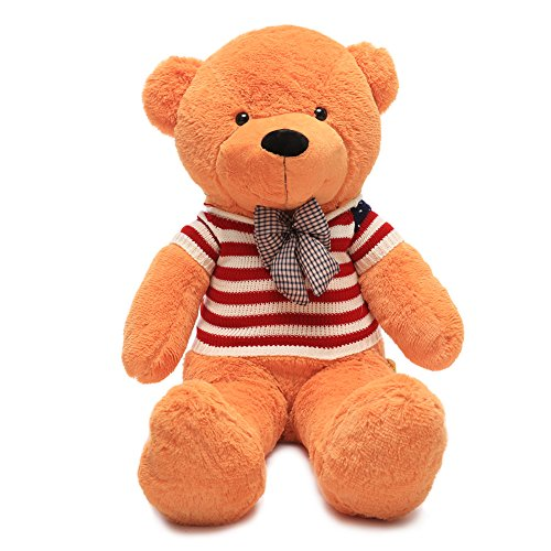 WOWMAX 47 Inches Soft Light Brown Giant Cute Cuddly Teddy Bear Stuffed Plush Animal Toys For American National Day