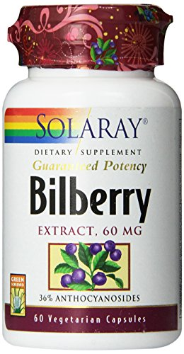 Solaray Bilberry Extract, 60mg, 60 Count