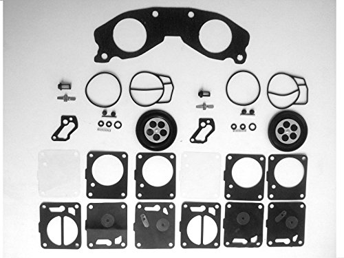 Carb Gasket Kit - Mukuni Dual Carb Rebuild Kit with Base Gasket Compatible with Yamaha 701 700 62T-13556-00-00