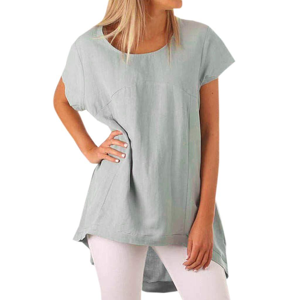 Birdfly Super Loose Wide Cuff Cotton Linen Plain Blouse Tops for Women Breezy Summer