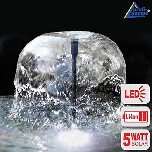 NEU! INNOVATIVE SOLAR TEICHPUMPE Oasis 500-3 Li&LED Solar-Teichpumpen-Set mit AKKU LED LICHT SPRINGBRUNNEN für Gartenteich Solarbrunnen Springbrunnen mit STABILEM ALU-RAHMEN