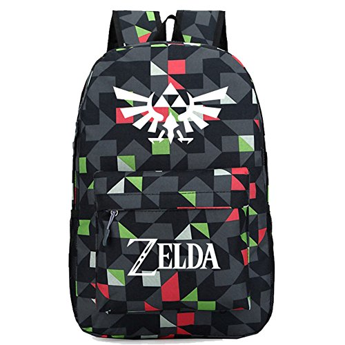 (Legend of Zelda Link Backpack Oxford Cloth Mix Large Capacity Cosplay Durable Travel School)