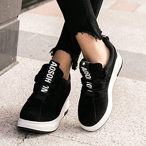 Women Casual Black Outdoor 35 40 Flat Black Sports Sport Platform Green Shoes Breathable Sneakers Shoes Red JERFER Fdq57d