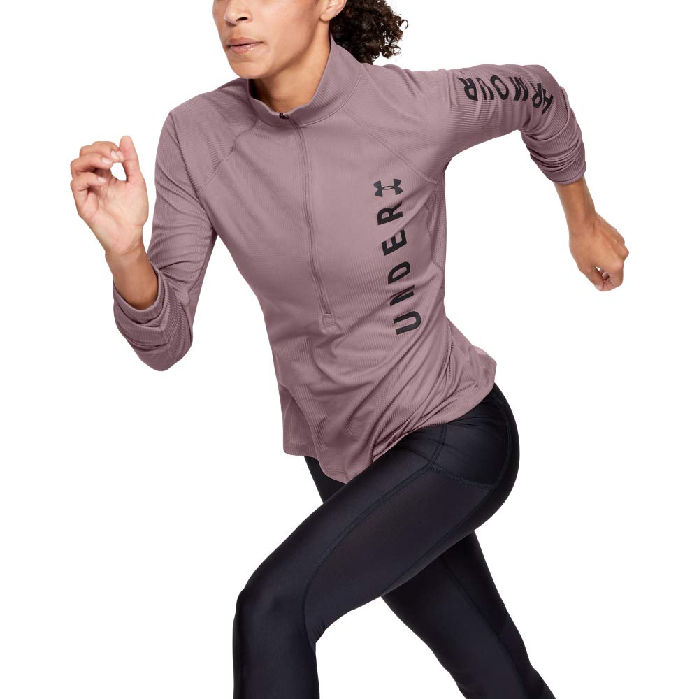 Felpa Donna Speed Stride Split Wordmark Half Zip Under Armour