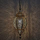 Home Sake Classic Moroccan Orb Hanging Lamp, Antique and Gold Metal Hanging Decorative Pendant & Celling Lamps Light |Home Decor
