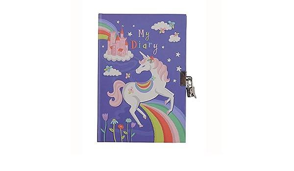Agenda secreta para niña, diario con diseño de unicornio ...