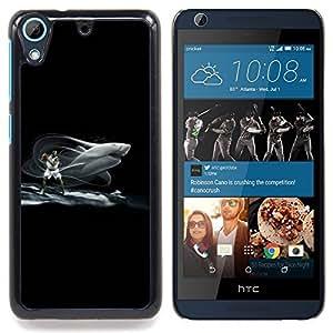 """Tiburón Baloncesto"""" - Metal de aluminio y de plástico duro Caja del teléfono - Negro - HTC Desire 626 626w 626d 626g 626G dual sim"""