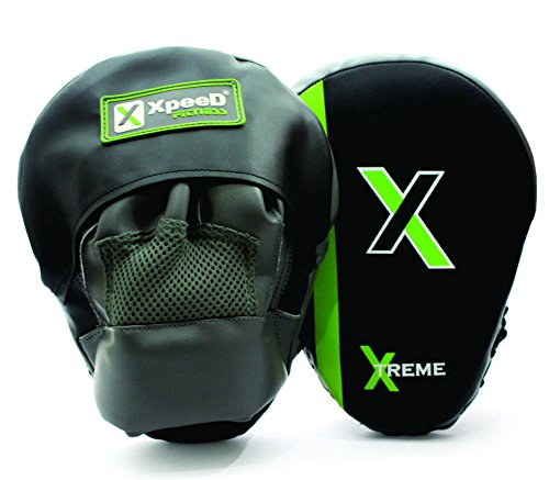 XpeeD Boxing Martial Arts Karate Focus Pads Curved Punch Training/Coaching Mitts Glove Karate Muay Thai Kick