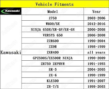 CNC Superficie met/álica 3D Juego palancas de freno y embrague para VERSYS 650 2009-2014//NINJA 650R//ER-6F//ER-6N 2009-2016palancas freno embrague Color Rojo