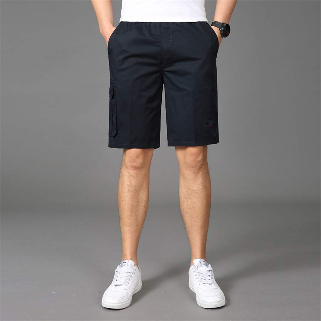 Men Cargo Shorts Vine/_MINMI Beach Short with Elastic Waistband and Anti-Theft Pocket Activewear Great Swim Trunks