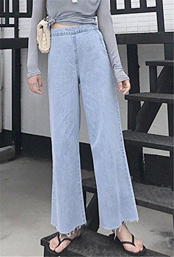 Jeans bleu Femme Evas clair clothing COCO 67qPxT5