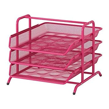 Ikea carta de acero bandeja, rosa por Ikea