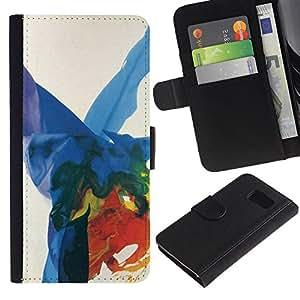 All Phone Most Case / Oferta Especial Cáscara Funda de cuero Monedero Cubierta de proteccion Caso / Wallet Case for Sony Xperia Z3 Compact // Art Colorful Splashes