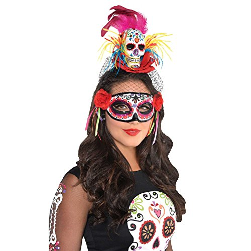 Amscan 846148 Day of The Dead | Sugar Skull Couture Headband, Adult One Size, Black]()