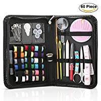 S-JIANG Professional Sewing Kit, Sewing Supplies Accessories includes Scissors, Needles, Tape Measure, Thimble, Thread, Carrying Case - Travel Sewing Kit for Beginners, Emergency, Home