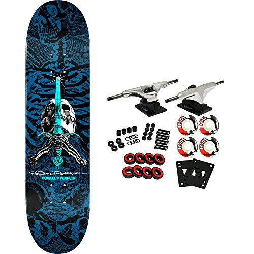 Blue Skull Skateboard - Powell-Peralta Skateboard Complete Skull and Sword Blue 8