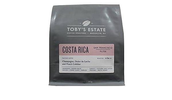 Amazon.com : Costa Rica San Francisco, Tobys Estate Coffee 12 oz bag, Single Origin Whole Bean Coffee : Grocery & Gourmet Food