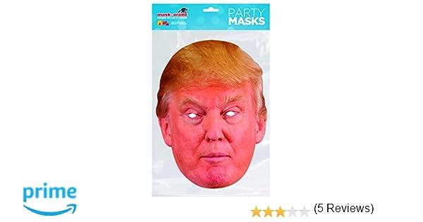 Rubies - Donald Trump, máscara de disfraz, talla única (DTRUM01): Mask-arade: Amazon.es: Juguetes y juegos