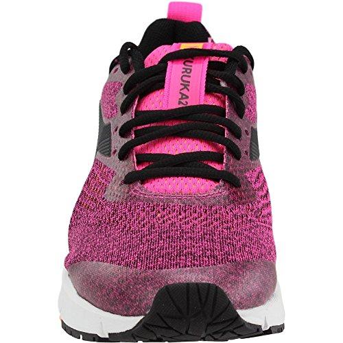 Diadora Womens Kuruka 2 Fluo Roze / Zwarte Atletische Schoen