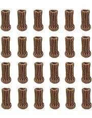 POFET 24 stks Stoel Been Sokken Meubelen Been Sokken Gebreide Meubelkappen Set Non-slip Stoel Been Floor Protectors Stoel Voeten Covers Coffe