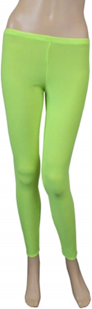 Aikido color amarillo fluorescente dise/ño de lycra tama/ño 9-10 a/ños Leggings de baile para ni/ñas de 5 a 12 a/ños