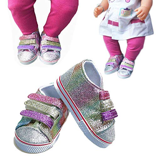 Frueaduy Accessory Glitter American Girl Toy Sneaker Zapf Baby Born 43cm Doll' Shoes Boots