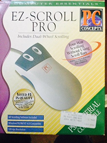 PC Concepts Pro-Pointe 3-Button Combo Mouse with Virtual Scroll Serial & PS/2
