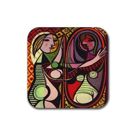 (Girl Before a Mirror By Pablo Picasso Coaster (Set of 4))