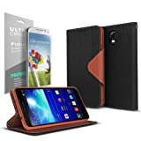 Black / Brown Samsung Galaxy Note 3 Wallet Case; Best Design with Coolest Premium [PU/Faux Leather] with Stand Feature and Magnetic Flap Closure; Functional Fashion Slim Wallet Case Cover for Galaxy Note 3 (Release Date); Supports Samsung Note 3 Devices From Verizon, AT&T, Sprint, and T-Mobile