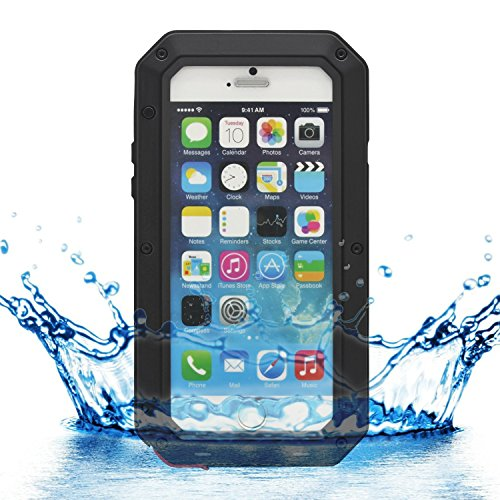 """iProtect iPhone 6 (4,7"""") Outdoor Case Schutzhülle Panzerglas Shock- and Dirtproof in schwarz"""