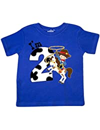 I'm Two-cowboy riding horse birthday Toddler T-Shirt